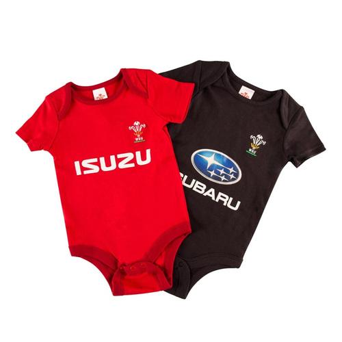 Wales Rugby Bodysuit 2 pk