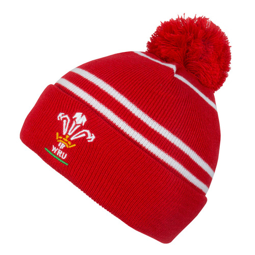 Wales Rugby Bobble Beanie