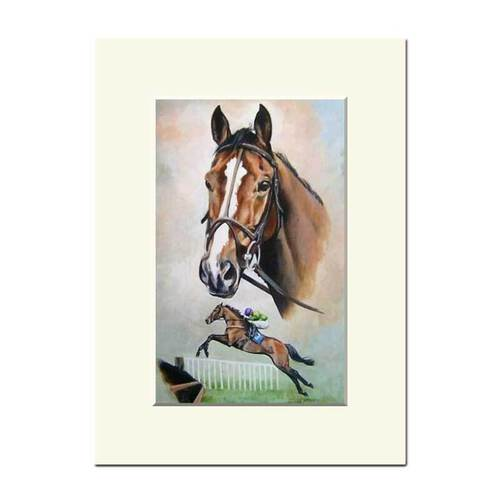 Mounted Study of Kauto Star by Caroline Cook
