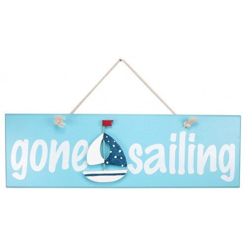 Gone Sailing Wooden Sign