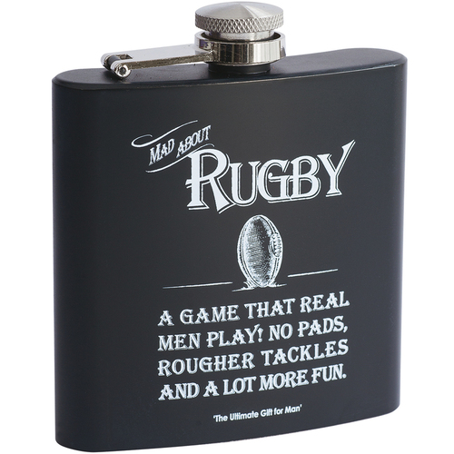 Mad about Rugby Hip Flask