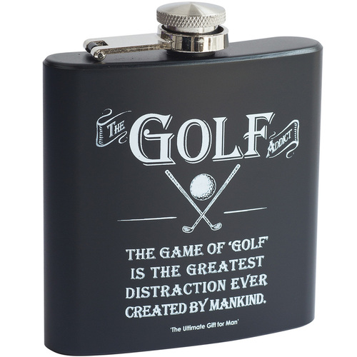 The Golf Addict Hip Flask
