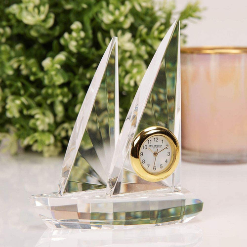 Sail Boat Miniature Glass Clock