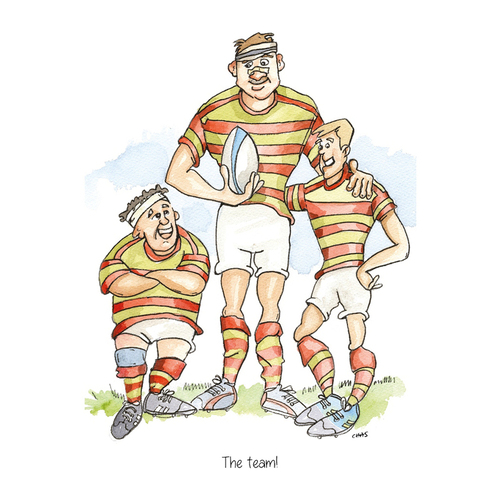 The Team Rugby Greeting Card