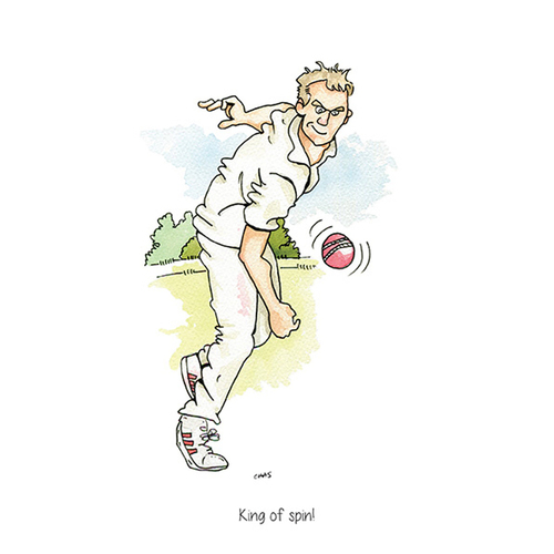 King Of Spin Cricket Greeting Card
