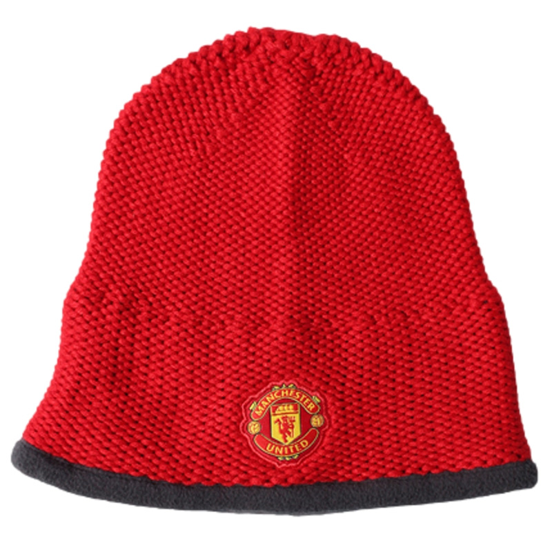 adidas Manchester United Football Beanie Hat - Red  66c2778d052f