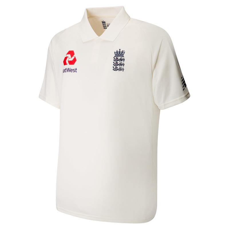 Shetland rehén olvidar  New Balance England Cricket Test Shirt | eBay