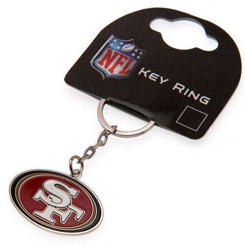 San Francisco 49ers Crest NFL Keyring