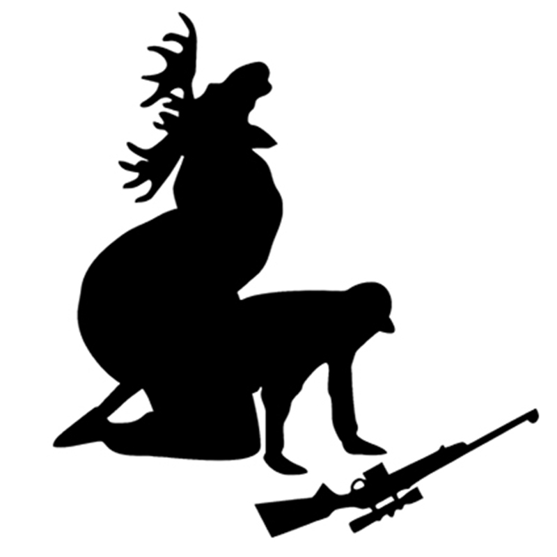 46-1cm-x-50cm-2Xp-Funny-Moose-Hunting-Hunter-Car-Sticker-For-Cars-Side-Truck-Window