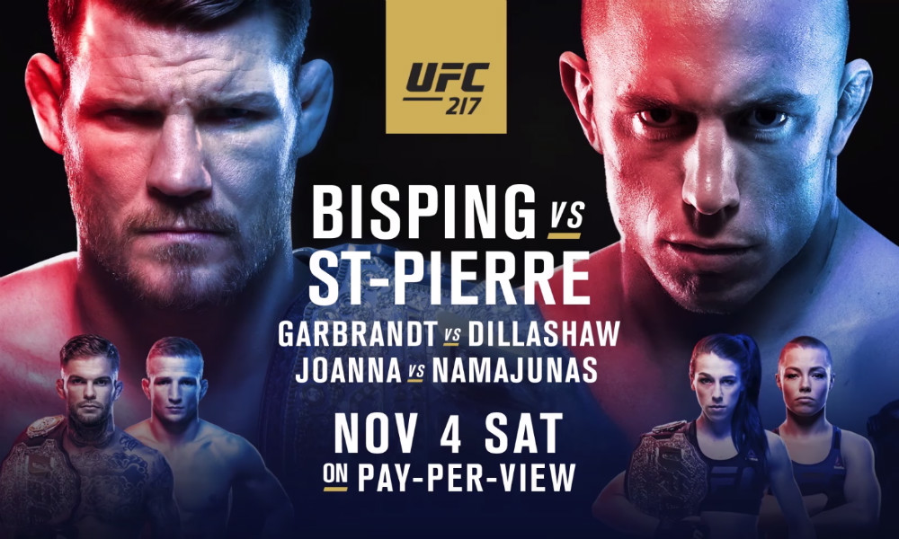 Bisping vs. St-Pierre: British star holds the aces against returning legend at UFC 217 article feature image