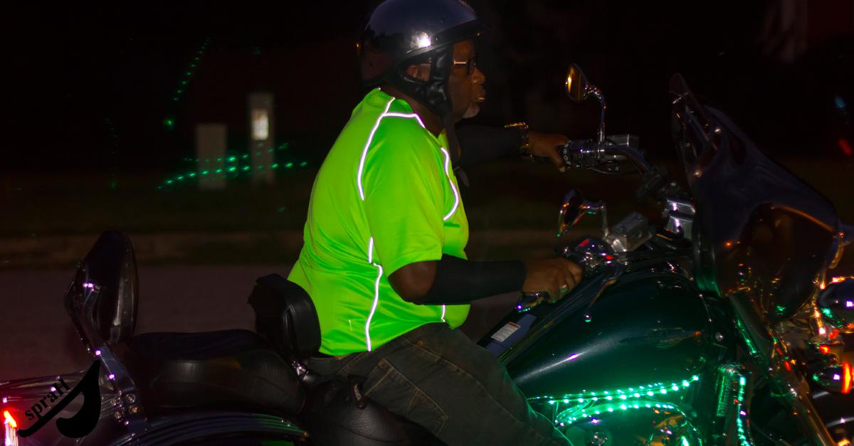 sprah biker at night