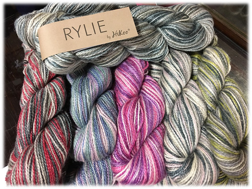 HiKoo Rylie in Multis!   Pair off with a solid to create a beautiful shawl.