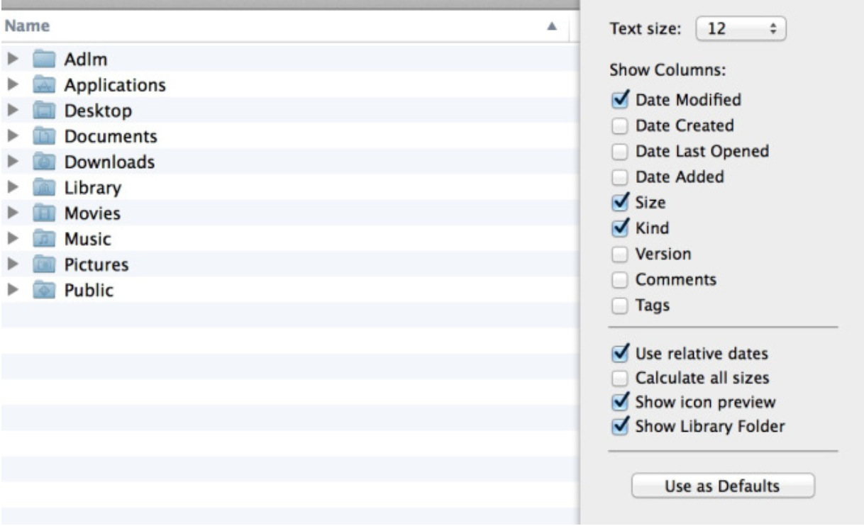 Show Library folder on Mac