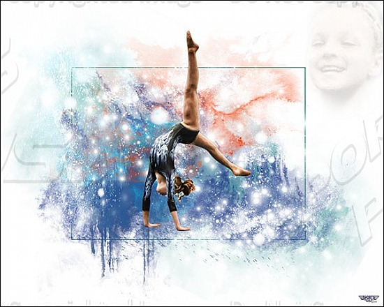 Gymnast Digital Paintings-Out of the Box Style
