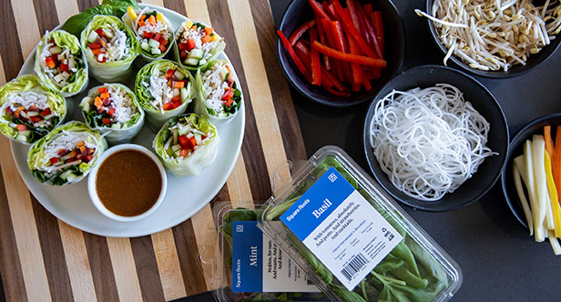Square Roots Herb Summer Rolls