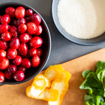 Cranberry Sauce with Citrus and Mint