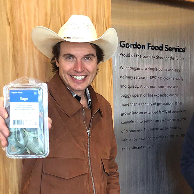 Kimbal Musk, Rich Wolowski, and Tobias Peggs at Gordon Food Service Headquarters in Grand Rapids, MI.
