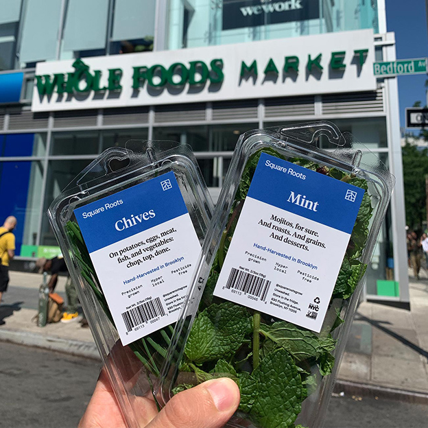 Square Roots herbs now available at Whole Foods Markets across Brooklyn