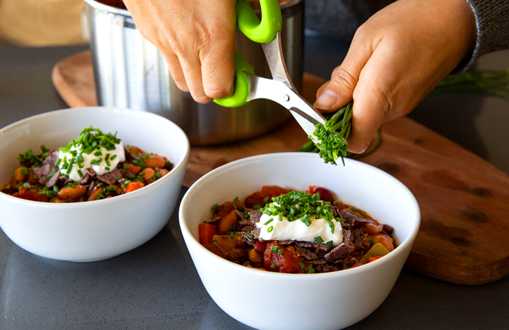 Chili recipe with chives