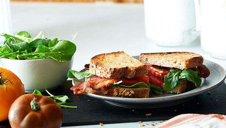 Bacon, Arugula, Tomato Sandwich