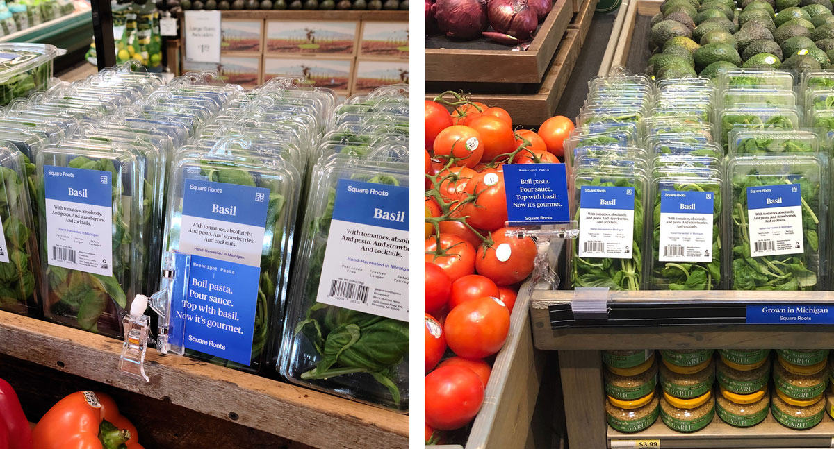 Square Roots produce can be found at more than 200 stores across the Midwest and New York City area.