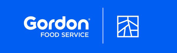 Gordon Food Service and Square Roots combined logo