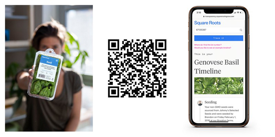 Square Roots using QR codes to provide transparency into their supply chain.