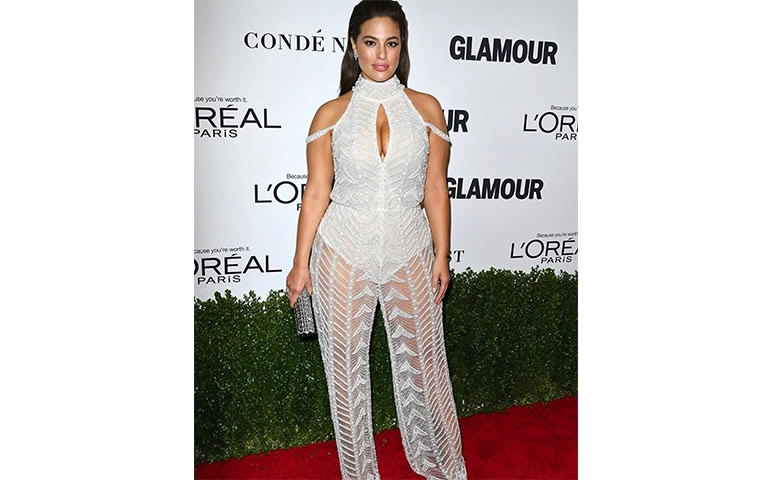 Ashley Graham rocking the Perfect Waist at the Glamour Women of the Year Award