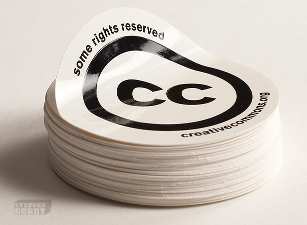 Round screen printed stickers