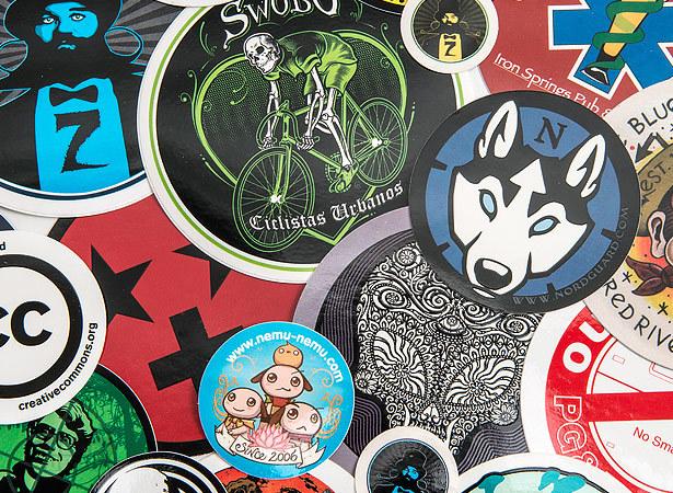 Round vinyl stickers