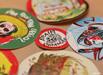 Round screen printed stickers vinyl