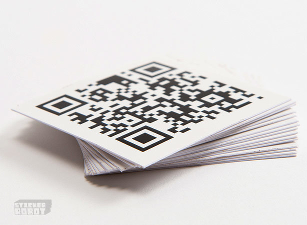 Square silkscreen stickers