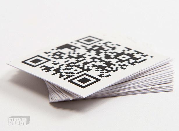 Square silkscreen stickers