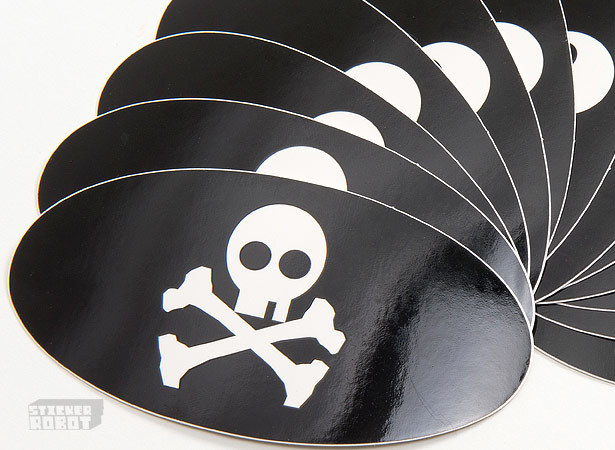 Silk screen oval stickers