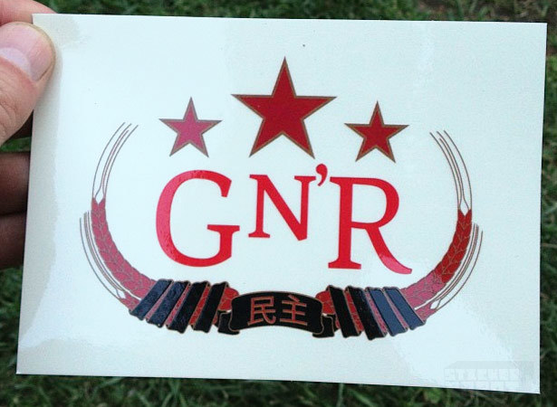Band sticker printing gunsandroses