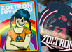 Custom zoltron sticker packs
