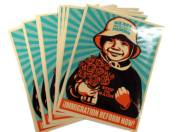 Immigration reform we are human3 stickers