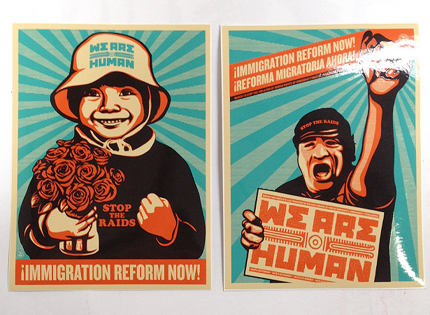 2 immigration reform we are human stickers