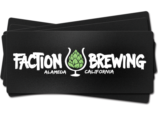 Silkscreen beer label faction brewing