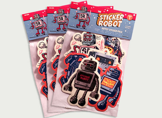 Custom stickerobot artist sticker packs