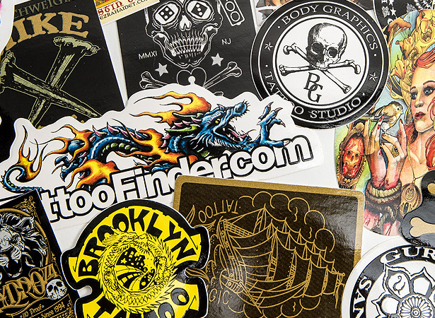 73693cf5af8996 Tattoo Artist Stickers - Promotional Vinyl Sticker Printing. As ...