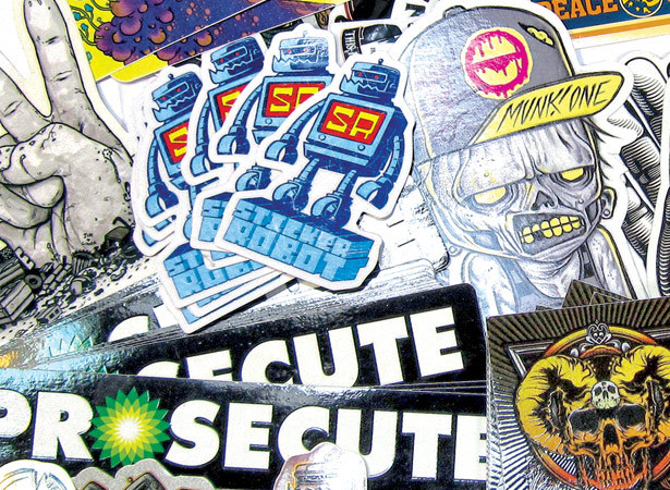 Diecut stickers