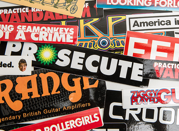Custom bumper stickers highest quality custom outdoor vinyl car truck bumper stickers sticker robot
