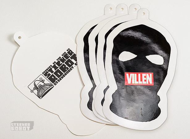 Villen vinyl sticker hang tag