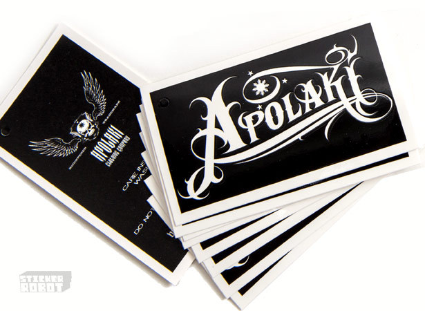 Sticker business cards vinyl sticker business cards