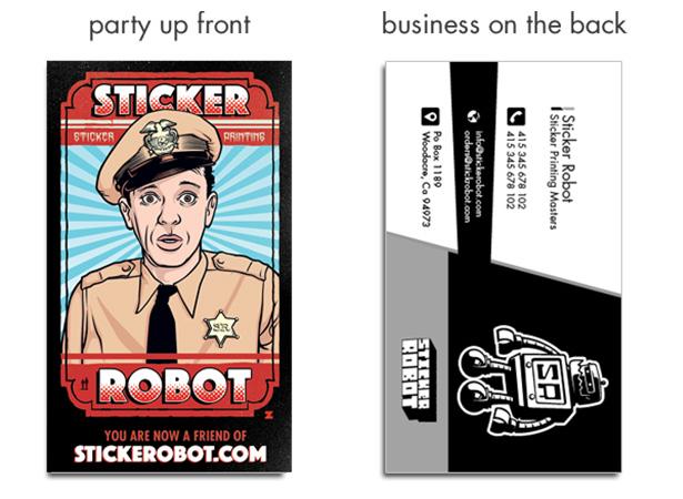 Sticker business cards