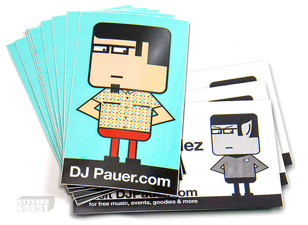 Vinyl sticker business cards