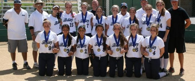 NorCal Blitz Softball team with medals