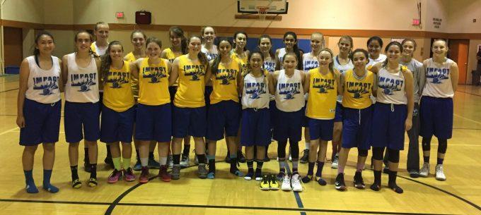 West Coast Impact Basketball team