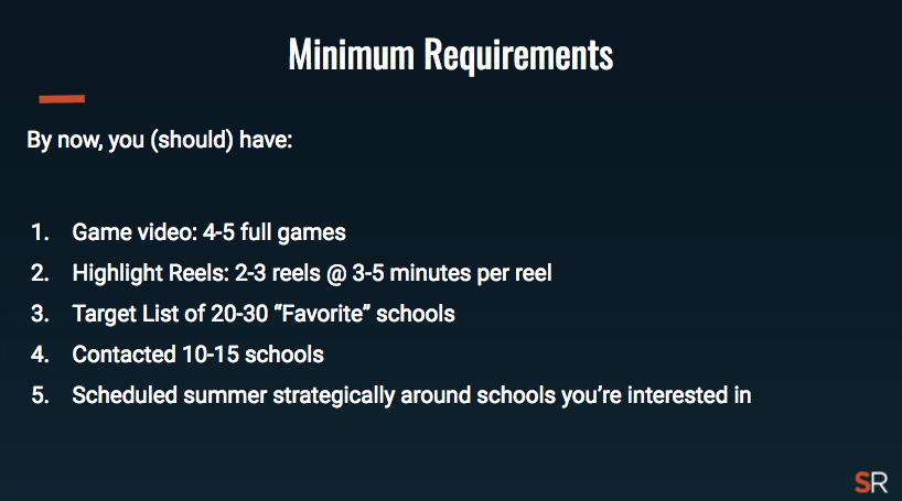 Minimum Requirements Recruiting